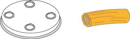 Matrize Nudelmaschine für Maccheroni