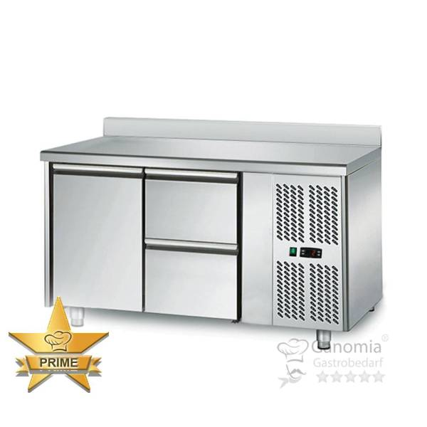 Kühltisch 1 Tür 2 Schubladen Höhenverstellbar mit Aufkantung