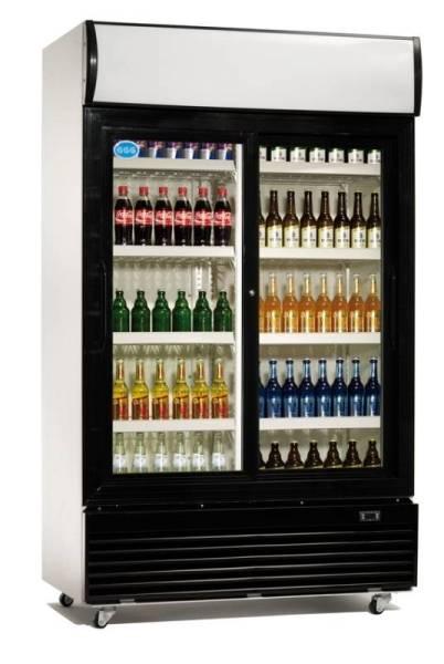 Gastro Flaschenkühler Umluftkühlung mit 1 Tür 1000 Liter