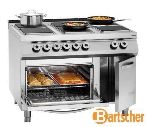 Bartscher Gastro Elektroherd mit 6 Kochfelder Backofen und Schrank