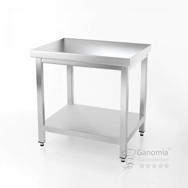 Edelstahl Tisch mit Unterboden in 60 x 70 cm Gastro