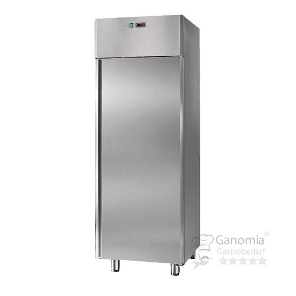 Lagerkühlschrank aus Edelstahl mit 700 L Volumen und elektrischer Abtaaung