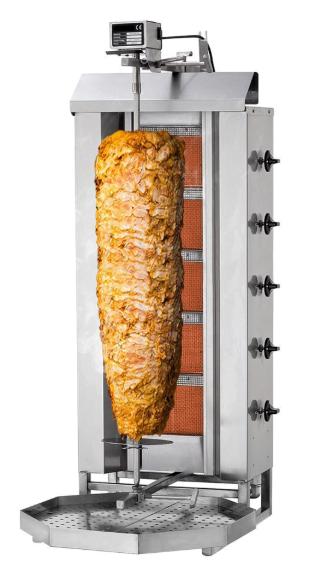 Dönergrill Gas 5 Brenner Propan / Erdgas Bis 80 Kg Fleisch