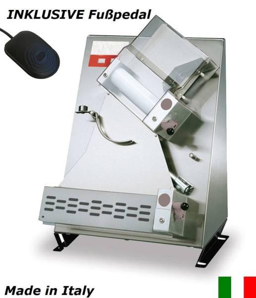 Teigausrollmaschine bis 30 cm mit Fußpedal