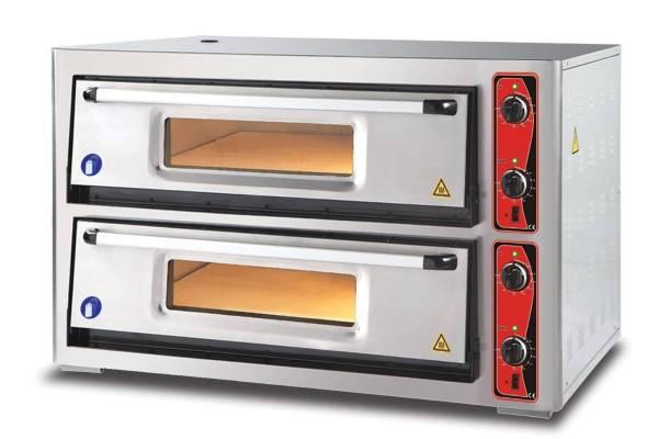 Pizzaofen Doppelkammer 12x Ø 30 cm