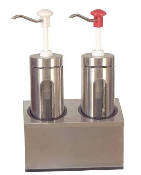 Soßenspender Zylindrischer 2 x 2 Liter