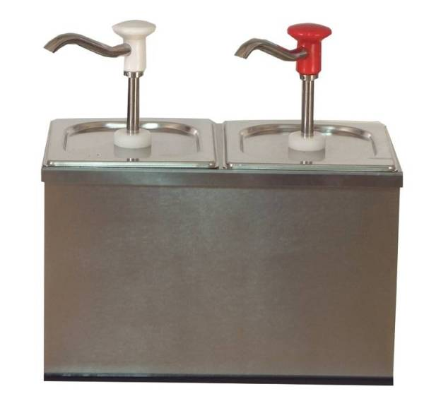 Soßenspender Edelstahl 2 x 2,5 Liter