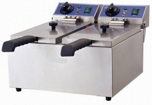Elektro Doppelfriteuse 16 Liter Tischgerät