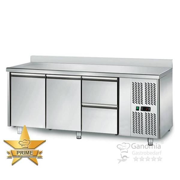 Kühltisch 2 Türen 2 Schubladen Höhenverstellbar mit Aufkantung