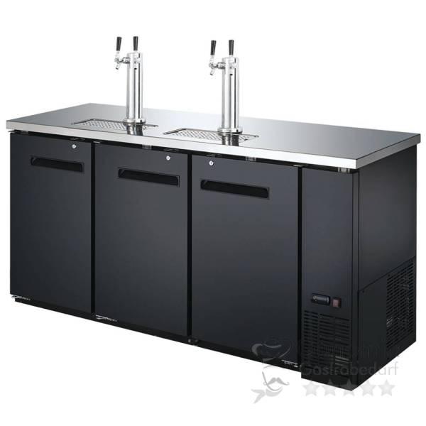 Bierkühler Schwarz 3 Türen 556 Liter