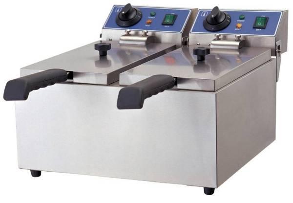 Elektro Doppelfriteuse 12 Liter Tischgerät