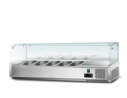 Kühlaufsatz mit Glas 5 x 1/4 GN Behälter