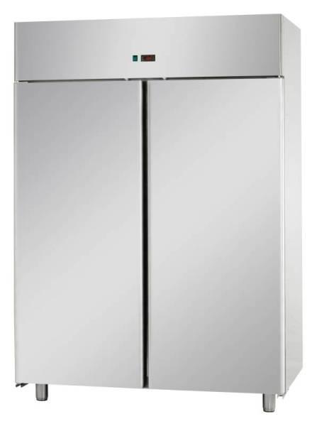Gastro Fischkühlschrank aus Edelstahl mit 2 Türen 400 Liter