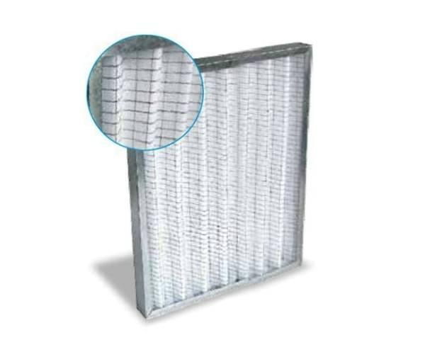 Synthetik Filter 60 x 60 cm Stahlblech verzinkt