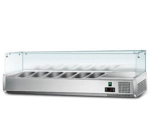 Kühlaufsatz mit Glas 6 x 1/4 GN Behälter