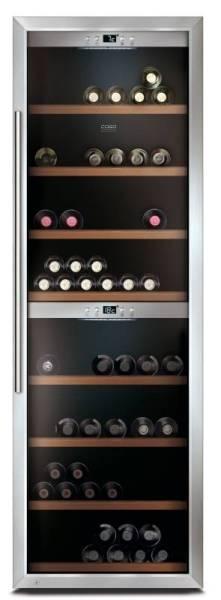 Gastro Weinkühlschrank aus Edelstahl für 180 Flaschen