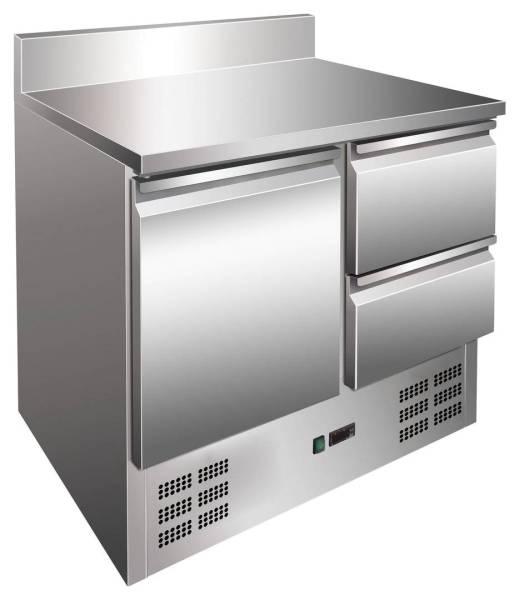 Kühltisch 1 Tür 2 Schubladen 90,3 x 70 x 97,5 cm