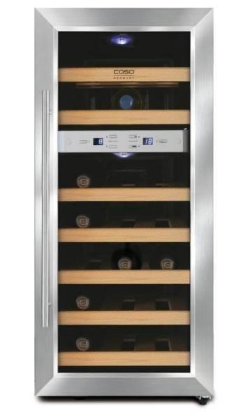 Gastro Weinkühlschrank aus Edelstahl für 21 Flaschen
