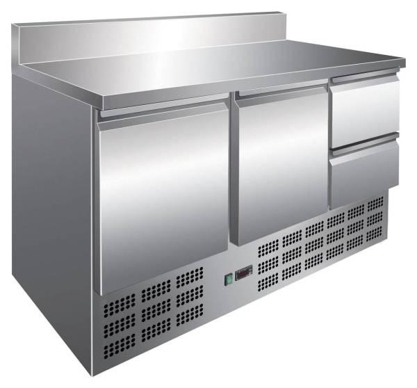 Kühltisch 2 Türen 2 Schubladen mit Aufkantung