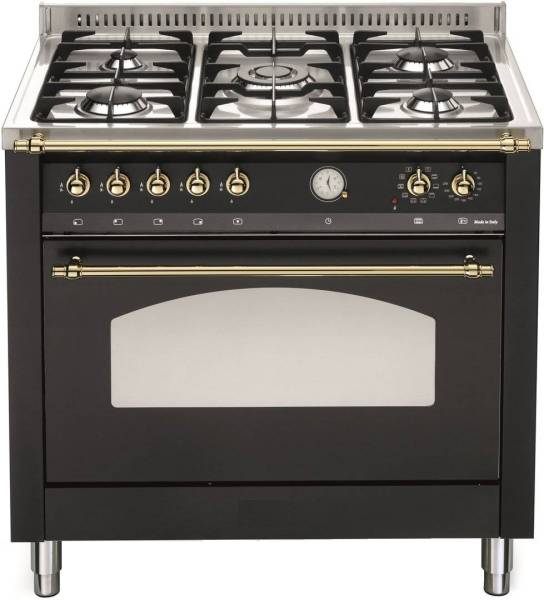 Gastro Gasherd 5 Flammig 90 Cm Single Backofen