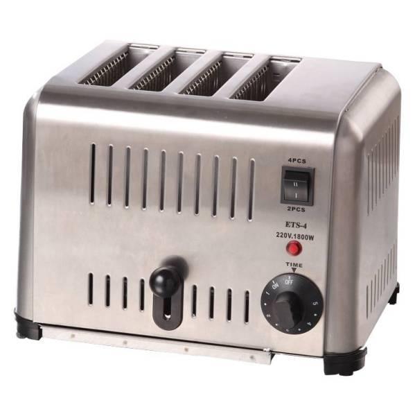 Toaster Edelstahl 30 x 22,5 x 21,5 cm
