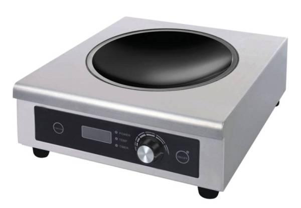 Wokherd als Tischgerät mit einem Kochfeld