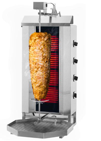 Dönergrill Elektro 4 Brenner bis 60 Kg Fleisch
