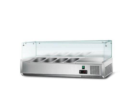 Kühlaufsatz mit Glas 4 x 1/3 GN Behälter