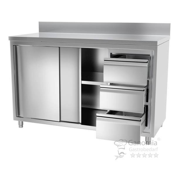 Edelstahl Küchenschrank für die Gastro