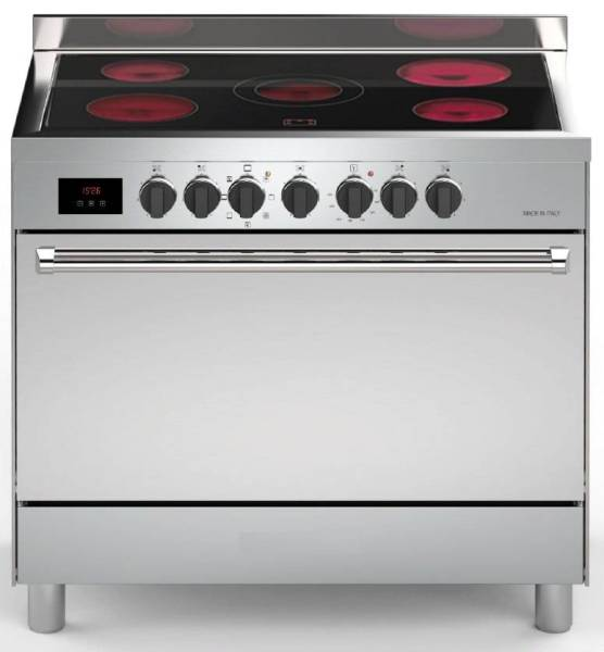 Gastro Elektroherd 5 Kochzonen 90 cm Single Backofen