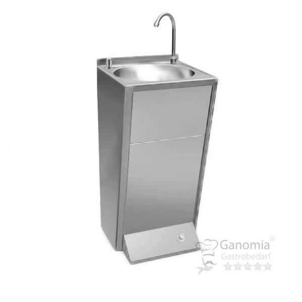 Edelstahl Handwaschausgussbecken mit Fußbedienung 500 x 451 x 890 mm