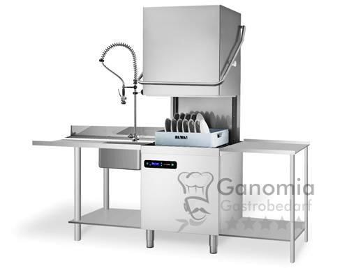 Durchschubspülmaschine, mit Laugenpumpe Reinigerpumpe, Doppelwandig, Set