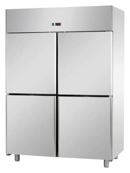 Gastro Fischkühlschrank aus Edelstahl mit 4 Türen 1400 Liter