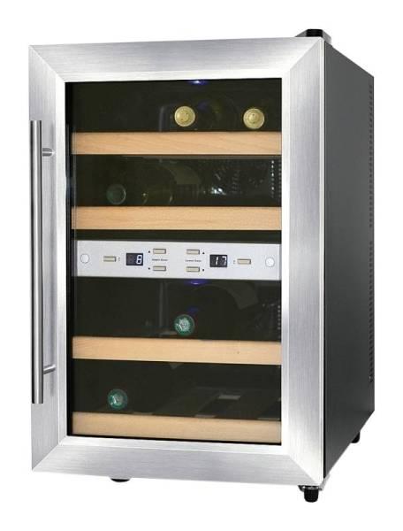 Gastro Weinkühlschrank aus Edelstahl für 12 Flaschen