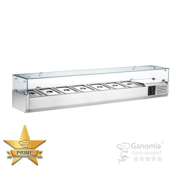 Kühlaufsatz mit Glas 7 x 1/4 GN Behälter 110 W