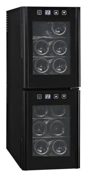 Gastro Weinkühlschrank mit 2 Türen für 12 Flaschen