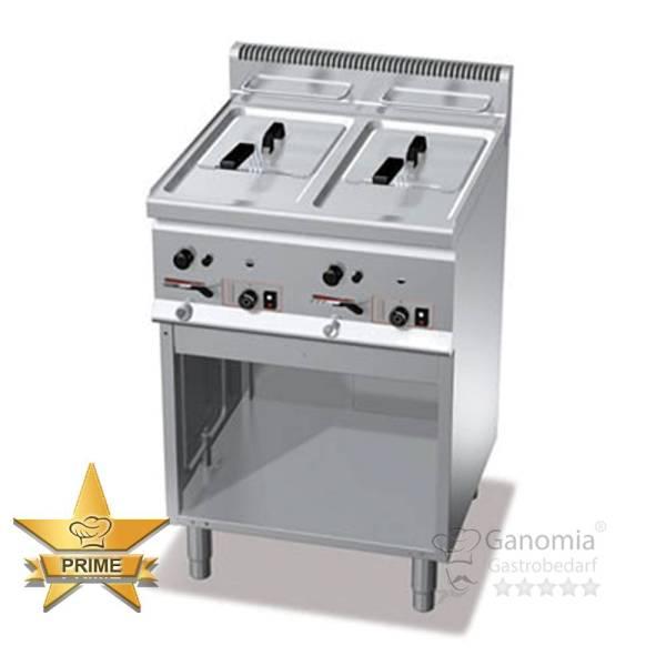 Friteuse für Großküche mit 2 Becken und jeweils 8 Liter Fassungsvermögen