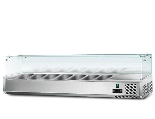 Kühlaufsatz mit Glas 7 x 1/3 GN Behälter