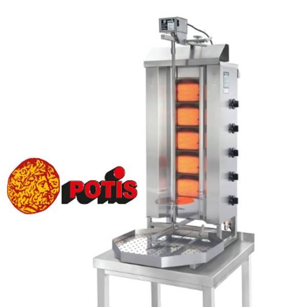 Potis Dönergrill 5 Brenner Gas bis 50 Kg Fleisch