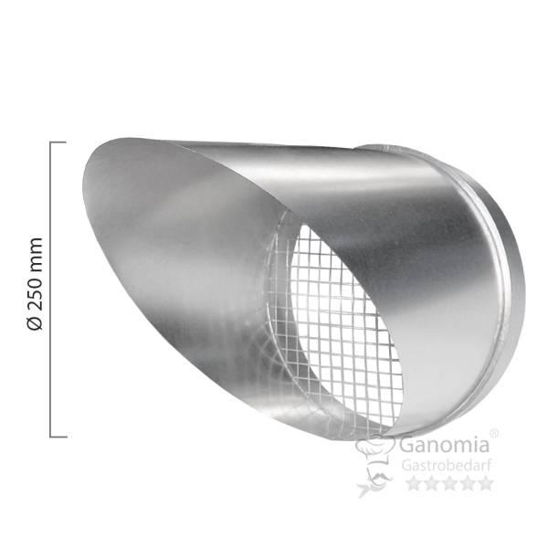 Ausblasstutzen mit Gitter in 250 mm Durchmesser