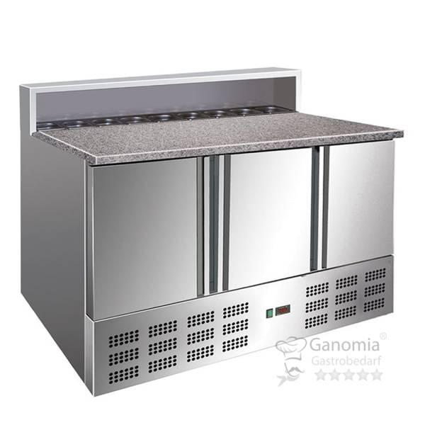 Pizzakühltisch mit Granit-Arbeitsplatte 400 Liter