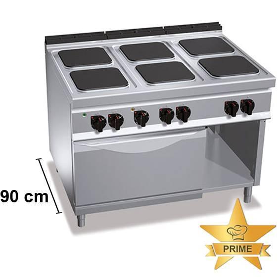 Gastro Elektroherd mit 6 Kochfelder mit Backofen
