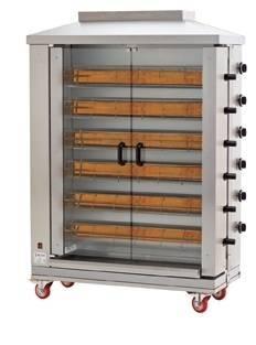 Hähnchengrillgerät Gas 6 Brenner