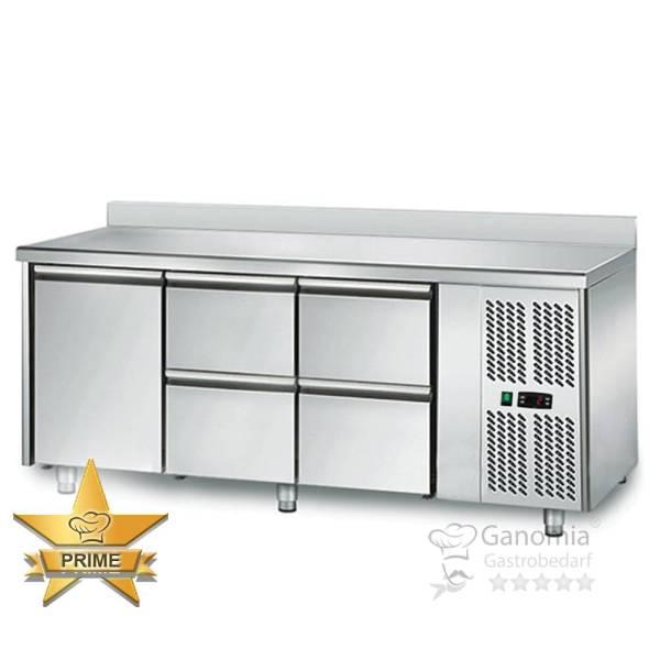 Kühltisch 1 Tür 4 Schubladen Höhenverstellbar mit Aufkantung