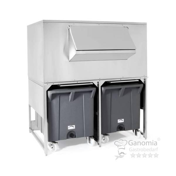 Eiswürfelauffangbehälter 516 kg Edelstahl