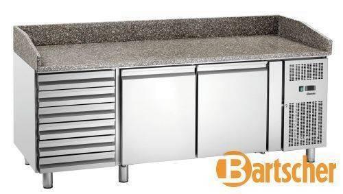 Bartscher Kühltisch Edelstahl Granitarbeitsplatte 2 Türen 6 Schubladen
