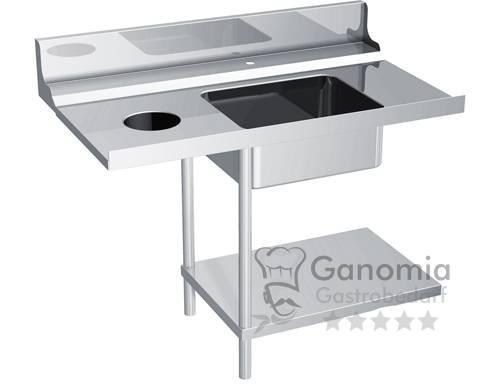 Zulauftisch für Durchschubspülmaschine, Anbau links