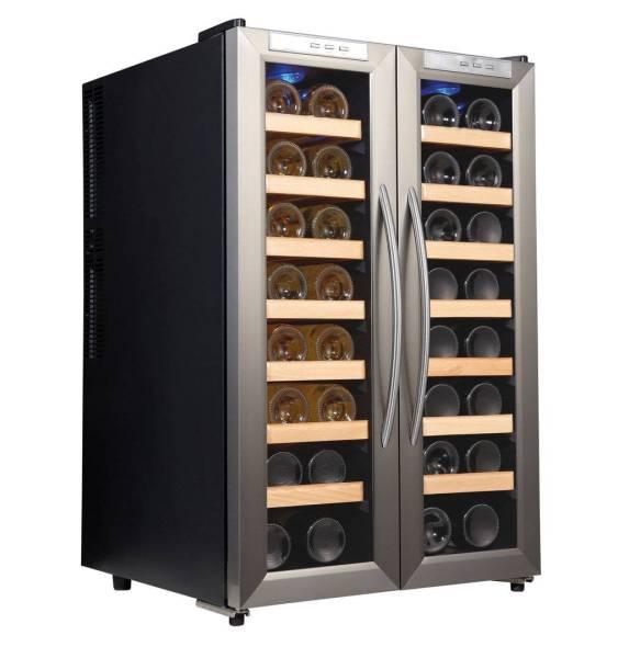 Gastro Weinkühlschrank aus Edelstahl für 32 Flaschen