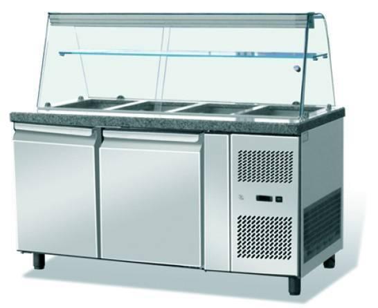 Saladette 802 Liter mit Glasaufsatz