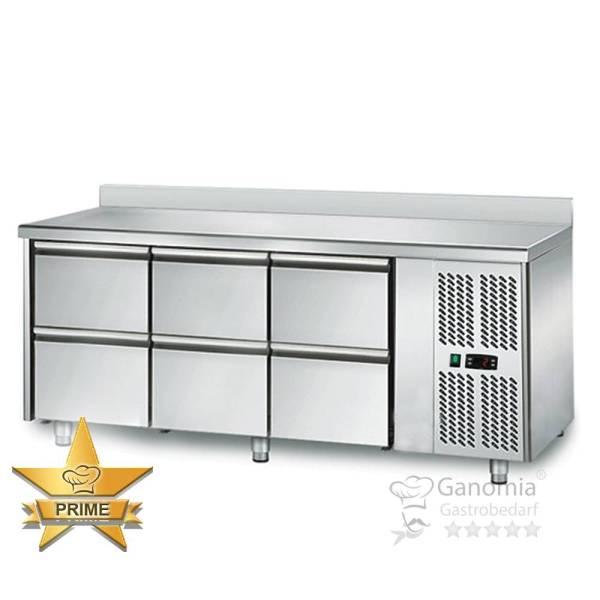 Kühltisch 6 Schubladen Höhenverstellbar mit Aufkantung